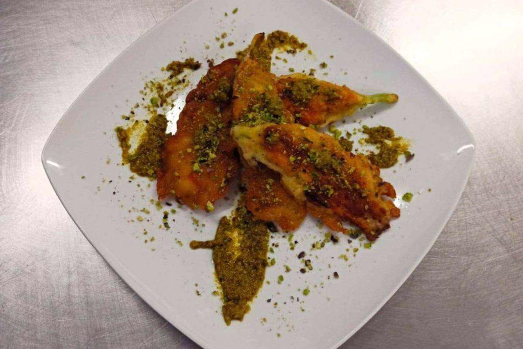 Fiori di zucca con pistacchio - Dolci Delizie